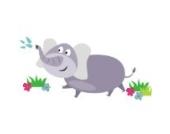 Elefanten Wandtattoo von Stickerscape - Wandaufkleber (Großes Größe)