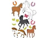 Wandtattoo Bibi und Tina, Pferde, 14-tlg.