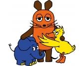 Wandtattoo Sendung mit der Maus, Maus / Elefant und Ente