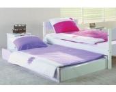 Bettschubkasten Kinderbett STELLA, lila/weiß Kinder