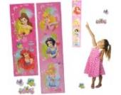 3-D Meßlatte Disney Princess - Wandtattoo selbstklebend mit 3 Sticker - wasserfest - Messlatte Prinzessin Kinderzimmer Wandsticker Aufkleber Pop-Up
