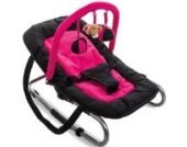 Babywippe / Schaukelwiege RELAX mit Spielbogen (Schwarz/Pink)