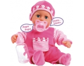 Bayer Design Funktionspuppe First Words Baby (Pink) [Kinderspielzeug]