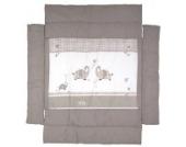 Roba - Universal Laufgittereinlage, Jumbotwins grau, Baumwolle, 75 x 100 bis 100 x 100 cm