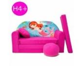 H4+ Kindersofa Ausklappbar Schlafsofa Couch Sofa Minicouch 3 in 1 Baby Set + Kindersessel und Sitzkissen + Matratze