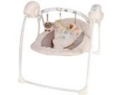 Babyschaukel Babywippe Babywiege (vollautomatisch 230V) BEIGE 5 Schaukelgeschwindigkeiten 12 Melodien