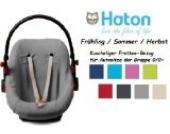 HATON BabyFit -- FROTTEE Ersatzbezug -- Frühling / Sommer / Herbst -- Universal Ersatz-Bezug für Babyschale, Autokindersitz z.B. für Maxi-Cosi, Römer etc. -- GRAU --