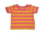 Katvig- T-Shirt rosa-gelb, kbA