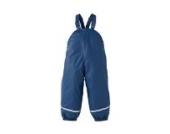 BORNINO Basics Regenhose 86 / Latzhose / Buddelhose - Kinder Baby, Mädchen, Jungen, Farbe: blau, gefüttert, wasserdicht, Öko-Tex zertifiziert, mit Reflektorstreifen
