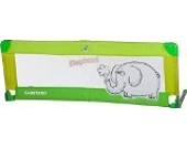 Caretero Safari Bettgitter, leicht, tragbar mit Klappfunktion, 120 x 40 cm, Grün