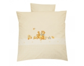 Babybettwäsche Sieben Freunde, beige, 80 x 80 cm