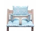 Blausberg Baby - Sitzkissen *41 FARBEN* Kissen Polster Set für Stokke Tripp Trapp Hochstuhl (Oxford Türkis) alle Materialien OEKO-TEX ® Standard 100 zertifiziert - 100% made in Hamburg