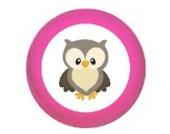 Schrankgriff Eule pink Holz Kinder Kinderzimmer 1 Stück Waldtiere