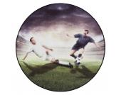 Teppich Fußball Spieler rund, 100 cm