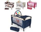 TecTake Kinder Reisebett höhenverstellbar mit Babyeinlage -diverse Farben- (Navy-Blau)