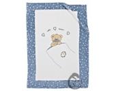 Alvi 931845621 Microfaser Baby Decke Little Bear blau 75 x 100 cm