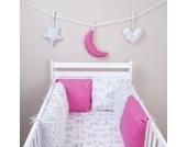 Amilian Hängedeko Stern Herz Mond 3 Stück Design57 Wanddeko Anhängsel Gehänge Baby für Kinderbett NEU