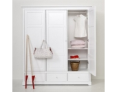 Oliver Furniture Schrank Kleiderschrank mit 3 Türen 195 cm hoch