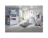 Komplett Kinderzimmer CASTELLO, 3-tlg. (Kinderbett, Wickelkommode breit und 3-türiger Kleiderschrank), Weiß Gr. 70 x 140