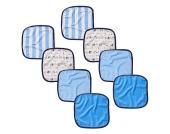 Babies R Us - Baby Waschlappen, 8er-Pack, blau