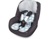 Priebes Sitzeinlage Tom für Kindersitze Gruppe 1 | Schonbezug 100 % Baumwolle | waschbar & atmungsaktiv | einfache Befestigung | seitlicher Kopfschutz | beidseitig verwendbar für Sommer und Winter, Design:elefanten grau
