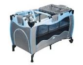 Sportsline Reisebett grau-blau inkl. Matratze / Tragetasche