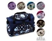BAMBINIWELT Wickeltasche für Kinderwagen, Kinderwagentasche + Wickelunterlage (Rosa Rosa Blumen)