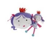 Labebe - Baby Püsch Kissen Kindersofa Dekokissen Kinderzimmer - 3 zur Auswahl (Purpurrote Prinzessin)