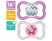 MAM Latex-Schnuller Air 16-36 Monate für Mädchen
