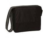 Lässig Wickeltasche Messenger Bag Classic Design Patchwork black - schwarz