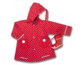 Playshoes Girls Regenmantel Punkte rot - Mädchen