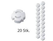 20er Pack H+H KS 6 Steckdosensicherung weiß zum Einstecken