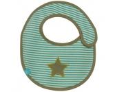 LÄSSIG Lätzchen small Starlight Oliv - grün