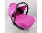BAMBINIWELT kompl. Ersatzbezug für Maxi-Cosi CabrioFix 7-tlg., Bezug für Babyschale, Sommerbezug Cabrio Fix (Marineblau/Pink)