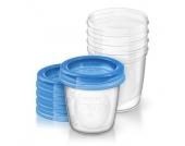 Philips Avent Aufbewahrungssystem für Muttermilch SCF619/05 5 x 180 ml - Gr.125ml-250ml
