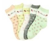 Luckystaryuan ® Set von 5 Mädchen Socken Frühling Herbst Schöne Socke Geschenk für Tochter (1-2.5 Jahre)