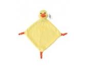 Plüsch-Schnuffeltuch Kuscheltier Schmusetuch Plüschtuch (Ente)