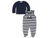 KANZ Strampler & Sweatshirt, gestreift, Affe, für Babys