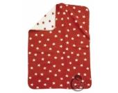 Alvi 931746082 Baumwoll Baby Decke Sterne Rot 75x100cm