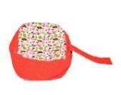 Baby Liegekissen, Lagerungskissen als Alternative zur Babywippe & Babyliege, später als Kindersitzsack einsetzbar, Farbe/Motiv: Marienkäfer rot