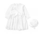 Baby Set aus Taufkleid + Mütze JOHANNA Gr. 74 Mädchen Baby