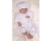 Baby-Held JAVARA Overall mit M�tze WEISS Gr. 68-80