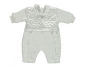 Carlina Girls Baby Tauf Overall weiss - weiß - Mädchen