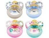 NUK 10172027 - Latex Beruhigungssauger (Schnuller) Happy Kids, Größe 2 (6-18 Monate), kiefergerecht, BPA-frei, 2 Stück, Farbe nicht frei wählbar