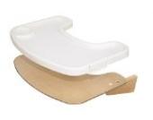 roba Essbrett aus Holz mit natur Lackierung, mit durch Clips abnehmbares weißes Kunststofftray, für den roba Treppenhochstuhl 'Move'