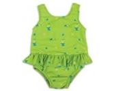 Bambinomio Baby Badeanzug mit Schwimmwindel Large - grün