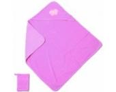 Baby Boum Gimik Babyschlafanzug Badetuch mit Kapuze und Waschlappen–Bubblegum Pink