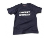 Cheeky Monkey Baby – Marineblau (Navy Blue) Tee Shirt, 6 – 12 Monate