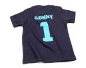 Nappy Head Individuelles Baby/Kinder-T-Shirt - Marineblau mit kurzen Ärmeln (Fußballhemd),18-24 Monate