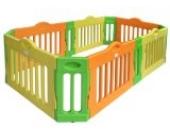 Baby Vivo Laufgitter Laufstall Baby Absperrgitter Krabbelgitter Schutzgitter für Kinder aus Kunststoff - Rechteck erweiterbar - Modell 2017